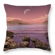 Artists Concept Of Archean Throw Pillow