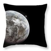 Artists Concept Of Earth As A Lifeless Throw Pillow