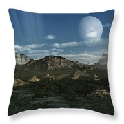 Artists Concept Of Mayan Like Ruins Throw Pillow