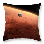 Artists Concept Of Nasas Mars Science Throw Pillow