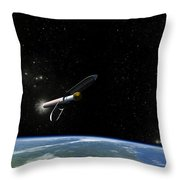 Artists Concept Of The Atlas V541 Throw Pillow
