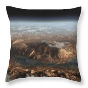 Artists Concept Showing A Lake Throw Pillow