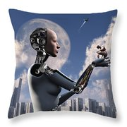 Artists Concept Where Technology Takes Throw Pillow by Mark Stevenson