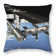 Artists Rendering Of The Port Side Throw Pillow