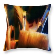 Artists Tools Throw Pillow by Isabella F Abbie Shores FRSA