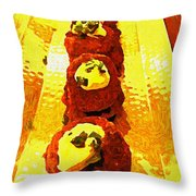 Artsy Kebabs Throw Pillow