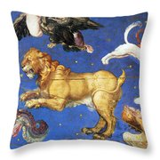Artwork In Villa Farnese, Italy Throw Pillow by Photo Researchers