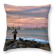 As He Caught His Dinner .... Throw Pillow