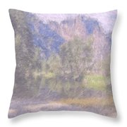 As If Monet Painted Yosemite Throw Pillow