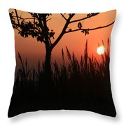 As It Sets Throw Pillow
