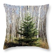 As Lonely As A Tree Throw Pillow