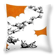 As The Crows Fly Throw Pillow