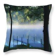 As The Lake Awakens Throw Pillow