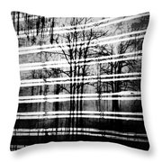 As The Swamp Sleeps Throw Pillow by Empty Wall