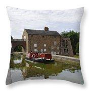 Ashby Canal At Moira Furnace Throw Pillow