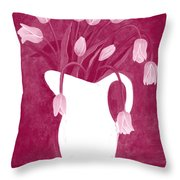 Ashes Of Roses Tulips Throw Pillow