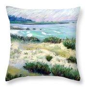 Asilomar Beach Throw Pillow