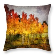 Aspen Grove In Autumn Throw Pillow