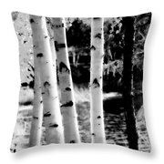 Aspens L Throw Pillow