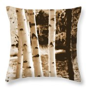 Aspens Llll Throw Pillow