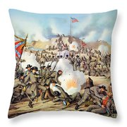 Assault On Fort Sanders Throw Pillow by Granger