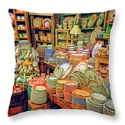 Assorted China Fishs Eddy New York City Throw Pillow