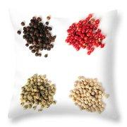 Assorted Peppercorns Throw Pillow by Elena Elisseeva