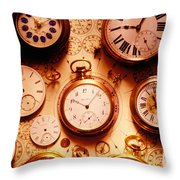 Assorted Watches On Time Chart Throw Pillow