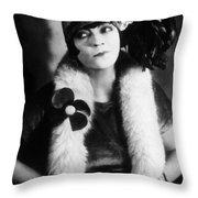 Asta Nielsen (1881-1972) Throw Pillow