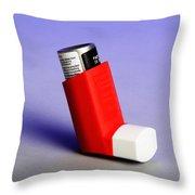 Asthma Inhaler Throw Pillow