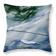 Aston Martin Hood Emblem 3 Throw Pillow