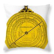 Astrolabe Throw Pillow by Omikron