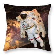 Astronaut In A Space Suit Throw Pillow