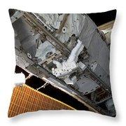 Astronaut Traverses Throw Pillow