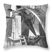 Astronomer, 1869 Throw Pillow
