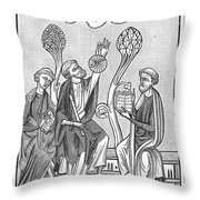 Astronomy, 13th Century Throw Pillow