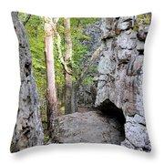 At A Cliff's Edge Throw Pillow