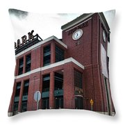 At And T Park Throw Pillow