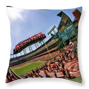 At And T The Stadium Throw Pillow
