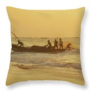 At Dawn In Puri Throw Pillow