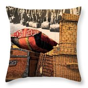 At Ellis Island Throw Pillow