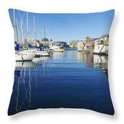 At Fisherman's Wharf Throw Pillow