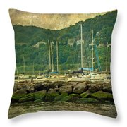 At Home In The Harbor - Atlantic Highlands  Nj Throw Pillow