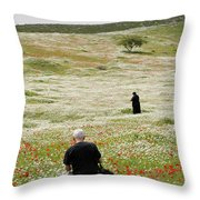 At Lachish's Magical Fields Throw Pillow