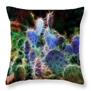 At Night The Desert Glows Throw Pillow