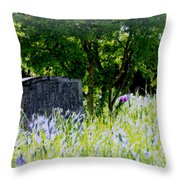 At Rest Throw Pillow by Marilyn Wilson