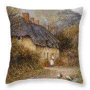 At Symondsbury Near Bridport Dorset Throw Pillow