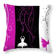 At The Ballet Triptych 2 Throw Pillow