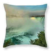 At The Base Of Horseshoe Throw Pillow