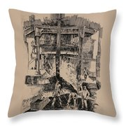 At The Blast Furnace Throw Pillow